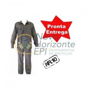 a287e3472f Uniforme Eletricista NR10 Risco 1 e 2 Conjunto Calça e Camisa Cinza  Retardante a Chama ( Antichama ) - Novo Horizonte